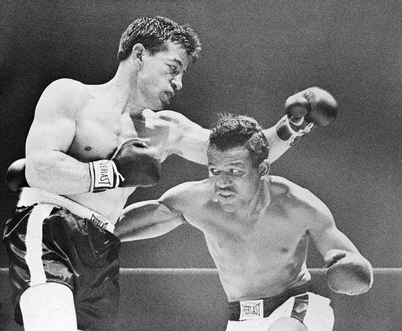 Ray Robinson fights Rocky Graziano